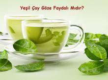 Yeşil Çay ve Göz